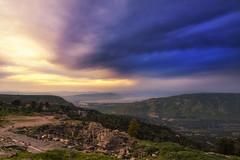 1095 Sunset Over Golan Heights (Hrvoje Simich - gaZZda) Tags: outdoors landscape sky sunset lake water building ruins romans golanheights seaofgalilee syria israel ummqais jordan asia travel nikon nikond750 nikkor283003556 gazzda hrvojesimich
