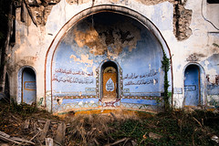 Rules of Prayer / Abandoned Mosque (James Kerwin Photographic) Tags: 2019 artist asia british bursa nomadic ruins turkey abandoned architecture colour derelict details disused europe fineart history light photographer rugged shapes structure travel prayer mosque blue orange abandonedment town village rural find