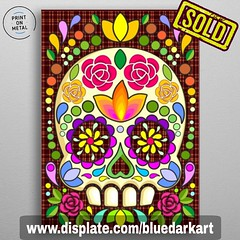 SOLD! #Sugar #skull #floral #mexican #calaveras © #BluedarkArt 👉 https://displate.com/displate/961484 💀 #Original and #unique #metal #posters on #Gallery 👉 www.displate.com/bluedarkart 💀 ~...~...~...~...~...~. (BluedarkArt) Tags: floral art walldecor metal posters wallart mexican onsale artistoninstagram sugarskull sales bluedarkart forsale mexico celebration unique gallery skull tradition calaveras original sugar instaart