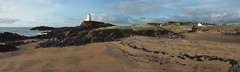 (Neil Bryce) Tags: anglesey newborough wales landscape olympus panoramic stitich seascape lighthouse beach