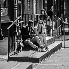 Relax (Mario Rasso) Tags: newyork manhattan soho usa full length architecture real people staircase young adult leisure activity togetherness men lifestyles day two casual clothing outdoors women railing mariorasso nikon d810