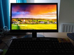 Love this startup image on my new second hand monitor! (Chris Hester) Tags: 474 monitor screen windows 10 photograph