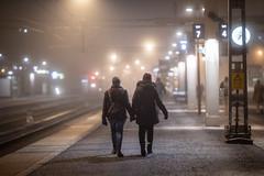 Uppsala, November 20, 2019 (Ulf Bodin) Tags: autumn canonrf85mmf12lusm sverige canoneosr walking holdinghands fog mist uppsala sweden outdoor höst dimma uppsalacentralstation uppsalaresecentrum uppsalalän