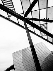 IronRoof.jpg (Klaus Ressmann) Tags: blackandwhite abstract france architecture design cityscape contemporary klaus omd em1 fparis ressmann fondationvuitton omdem1 flcabsoth klausressmann