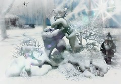 SNOW BABIES (Rachel Swallows Inworld Elenamicheals Core) Tags: animals babyanimals christmas decor flowers fox garden ice landscape nature newyear polarbear rabbit rock snow tmcreation winter wolf