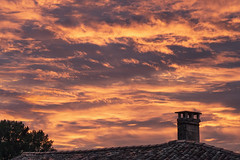 My bedroom window (Jean-Luc Peluchon) Tags: fz1000 aquitaine nouvelleaquitaine france nuage cloud ciel sky cheminée fireplace toit toiture roofing roof couleur color sunset sunrise coucherdesoleil