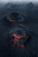 the red craters (kaihornung-photography) Tags: aerial crater volcano black red iceland europe drone aerialphotography kaihornung dark lava