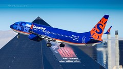 SUN COUNTRY AIRLINES B737-8Q8 (lavierphilippephotographie) Tags: suncountryairlines boeing b737 b738 b7378q8 lax klax la losangeles plane airplane aircraft airline airliner avion