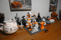 Orange only mode on my camera! (Chris Hester) Tags: 78p lego classic orange only cat cup