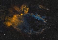 Sharpless 157.  The Lobster Claw Nebula. LSHO (Ian J Crichton) Tags: astrometrydotnet:id=nova3767582 astrometrydotnet:status=solved