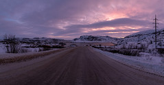 Road to Teriberka (gubanov77) Tags: teriberka russia кольскийполуостров kolapeninsula териберка teriberkariver nationalgeographic winter landscape nature sunset sky dusk twilight travelphotography travel north russiannorth panorama road track murmanskregion