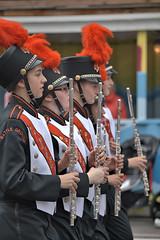 The Flute Line (Scott 97006) Tags: uniforms marching musicians flute parade pomp hat plume