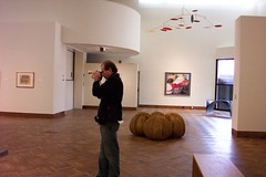 Oberlin Ohio - Allen Memorial Art Museum - Known as a Video artist at work by his wife only . (Onasill ~ Bill Badzo - 67 M) Tags: style college town travel allen memorial art museum historic nrhp architecture spanish romanesque terra cotta building downtown campus onasill slky clouds sky loraincounty billbadzo photography video work interesting selfie