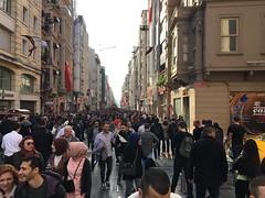 İstiklal Caddesi (lazy south's travels) Tags: woman man architecture building candid urban scene street road turkish turkey istanbul