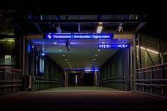 Empty Station (felix200SX) Tags: railwaystation mäntsälä finland night longexposure walkway bridge canon 70d canonef24105mmf4lisusm