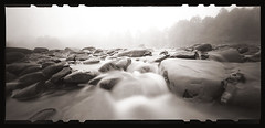 October on the River (DRCPhoto) Tags: zeroimage612b pinhole lenslessphotography kodakbw400cn 120film cheatriver albright prestoncounty westvirginia