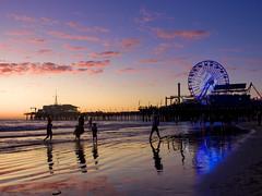 Sunset ad Santa Monica Pier (dvd.otero) Tags: california la losangeles santamonica sunset reflections pier ocean pacific beach
