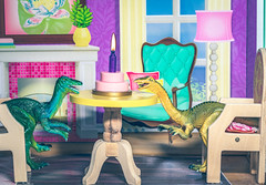 party (auntneecey) Tags: party dinosaurs dollhouse cake toys 365the2019edition 3652019 day328365 24nov19