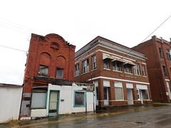 Chestnut Street Buildings (jimmywayne) Tags: roanoke alabama randolphcounty historic downtown nrhp nationalregister flemishbond cityhall richardsonian decay