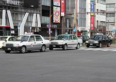 Nagoya  Taxis (Flame1958) Tags: 4215 nagoya japan nagoyataxi 231016 1016 2016 traveljapan travelnagoya