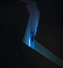The Arctic - While the Ice is Melting, Nordiska museet, November 11, 2019 (Ulf Bodin) Tags: indoor iceberg exhibition canonrf85mmf12lusm museum thearcticwhiletheiceismelting utställning woman sverige nordiskamuseet stockholm sweden canoneosr djurgården arktismedanisensmälter stockholmslän