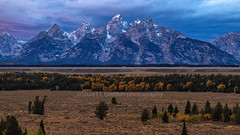 Gathering Storm At Twilight (chasingthelight10) Tags: rivers landscapes mountains events photography travel meadows sunrise sunset grandtetonnationalpark places wyoming oxbowbend willowflats
