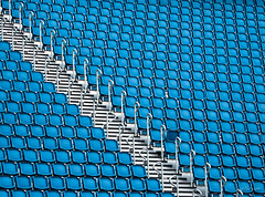 There's Always One (GarSham) Tags: abstract seating stadium nonconformance conformity blue minimalization