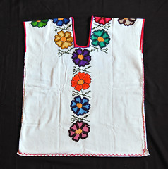 Purepecha Huipil Michoacan Mexico Textiles (Teyacapan) Tags: michoacan mexican clothing textiles huipils huanengo embroidered flowers purepecha