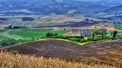 Terra bruciata (giannipiras555) Tags: terra colline natura toscana casolari panorama landscape paesaggio alberi valdorcia nikon
