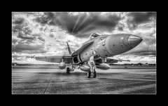 Finland Fighter (richieb56) Tags: luftfahrt aviation military militär air force finland luftwaffe finnland f18 hornet hornisse england great britain fairford riat 2019 sun light sonne wolken gegenlicht backlight black white schwarz weiss nero monochrome hn604 pov hn406 finnish plane jet fighter jäger jagdflugzeug kampfflugzeug jetfighter luft photoshop