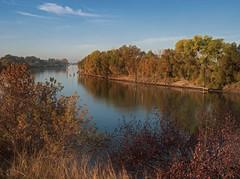 Autumn Scene Along the Sacramento River (klewis4848) Tags: river riverscenery autumn fallreflections autumnreflection sacramentoriver olympus17mmf18 mzuiko17mm em10ii em10markii