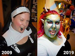 Ok. I'll bite. Since 2019 is coming to an end, and I finally found some Halloween 2009 photos, I thought I'd do the #2009vs2019challenge to see how much I've changed. ... Meh. Not much really. 😁😎🎃👻♂️♀️ #selfiesunday (tiina2eyes) Tags: ok i'll bite since 2019 is coming an end i finally found some halloween 2009 photos thought i'd do 2009vs2019challenge see how much i've changed meh not really 😁😎🎃👻♂️♀️ selfiesunday 2009vs2019 halloweencostume ifttt instagram