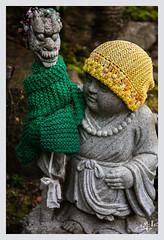 Statue d'enfant au bonnet / Child statue with a cap - Daisho-in - Miyajima (christian_lemale) Tags: miyajima daishoin temple enfant child bonnet laine cap wool nikon d7100 japon japan 宮島 日本