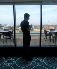 in planning mode at the hotel (kendradrischler) Tags: mats hotel planning view rug