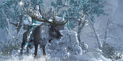 #147 - Frost King (Yvain Vayandar) Tags: enchantment event secondlife sl fantasy medieval fairy roleplay frost frozen king snow deer cold winter north unstable fallengodsinc nomatch moonsha love fashiowl tmcreation trompeloeil