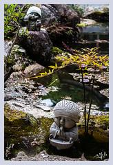 Statues d'enfants au bonnet / Children statues with a cap - Daisho-in - Miyajima (christian_lemale) Tags: miyajima daishoin temple enfant child bonnet laine cap wool nikon d7100 japon japan 宮島 日本