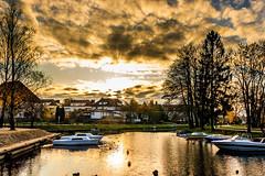 Zachód Słońca nad Nauticiem. (Tymcio Piotr) Tags: węgorzewo kanał zachód słońca sunset