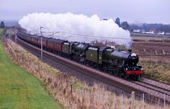 Dream pairing on a dreich day (stevenjcrozier) Tags: 45562 alberta 46115 scots guardsman wcrc santa special yanwath wcml carlisle lancaster penrith jubilee double headed