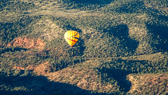 Floating on a soft breeze above Sedona Arizona (lhboudreau) Tags: sedona redrockballoonadventure balloon hotair balloonride sightseeing hotairballoon arizona sedonaarizona outdoor travel ballooning landscape desert