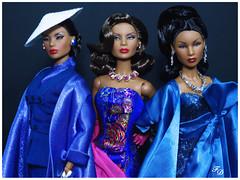 Shades of Blue (FashionDragon) Tags: africanamerican ladyaureliagrey blackbarbie fashionroyalty nuface fashiondoll designerdoll jessyayala davidbuttery byronlars jasonwu stephenburrows bobmackie integritytoys