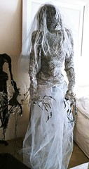 Silver grey bride (ok2la) Tags: etsy grey bride black ghoul 20191117154413 silver here come ghouls enchanted wireworks dead death decomposed body figure cemetery cemetary grave graveyeard tomb gray walker veil faceless prop