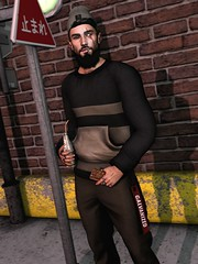 ☠ SCAR TISSUE (Shock Q'Kell) Tags: secondlife sl lelutka head guy mesh bento signature body gianni bloggers slbloggers male men man boy fuoey mancave event beard facialhair galvanized pants thebeardedguy backdrop millocopperfield hoodie rozoregalia rings pumec ears style fashion photo slphoto store mainstore moda slmoda