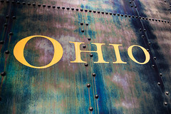 Ohio (JCTopping) Tags: rusted iron train sign locomotive steel rail ohio rivets baltimore maryland unitedstatesofamerica