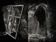 window and paint, abstract (Pomo photos) Tags: window wall abandoned lost decay surreal noir dark darkness geometry texture dirt spot paint blackandwhite blackwhite bw indoor city cityscape urban smear smudge fujifilmxt20 fujifilm 35mm xf35