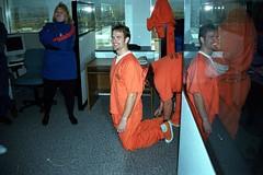 M_Oracle2 (180g895.ercf) Tags: oracle halloween sneakers plimsolls shackles shackled prison jail prisoners inmates ercf eaglerockcorrectionalfacility oraclehalloweencostumecontest sonymavicafd91 eaglerock correctionalfacility inmate prisoner convicts convict connectingchain bellychain waistchain handcuffs guard slipon sliponsneakers sliponplimsolls boots outdoors indoors chaingang restraints