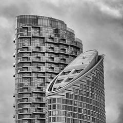 Neighbours #3 (Joseph Pearson Images) Tags: building architecture london square blackandwhite mono bw charringtontower ontariotower