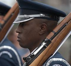 Marching Honor Guard (Scott 97006) Tags: man airforce march rifle uniform serviceman parade
