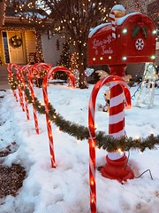 Letters to Santa ... (Mr. Happy Face - Peace :)) Tags: season christmas candycanes mailbox santa letters glow red hmm happymailboxmonday