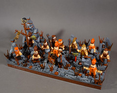 Dwarf Faction Rare Unit: Slayers (WarScape) Tags: castle fantasy medieval warscape slayer dwarf army unit roster custom minfigure rare faction axe hammer warrior battle