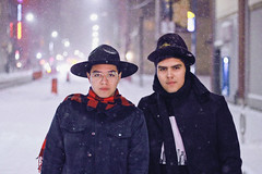 Ventura Brothers (TheJennire) Tags: photography fotografia foto photo canon camera camara colours colores cores light luz young tumblr indie teen adolescentcontent venturabrothers 2019 toronto canada snow cold fashion brothers family people 50mm ventura hat night
